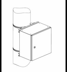 ЦМО на столб для шкафов серии ШТВ-НЭ шириной 400 мм