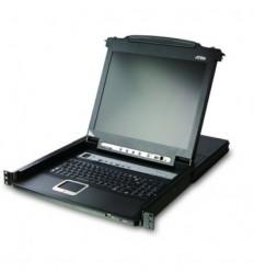 ATEN KVM-консольATEN 8P Dual RAIL LCD KVMP SWITCH 19INCH (CL5808NR)