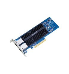 Synology 10 Gigabit dual port RJ-45 PCIe 3.0 4x adapter (incl LP and FH bracket)