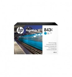 HP Inc. 843C с голубыми чернилами 400 мл для PageWide XL 5000