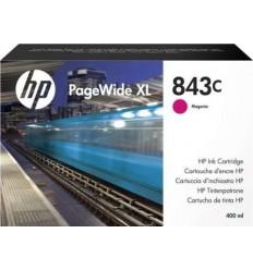 HP Inc. 843C с пурпурными чернилами 400 мл для PageWide XL 5000