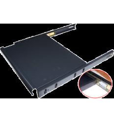LANMASTER для телекоммуникационного шкафа Полка для клавиатуры выдвижная 4 точки