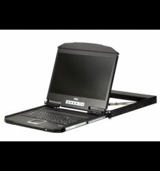 ATEN KVMCL3100NX-ATA-RG 1U Short Depth 18.5'' Short Depth USB VGA Single Rail LCD