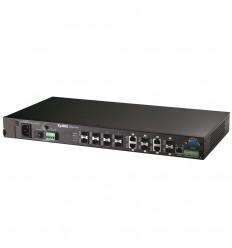 Zyxel 12-портовый управляемый коммутатор L2+ Metro Gigabit Ethernet с 12 SFP-слотами из которых 4 совмещены с разъемами